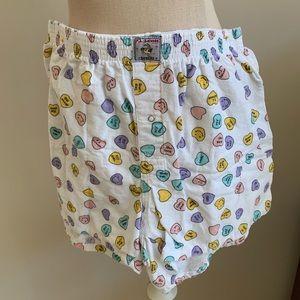 PJ Salvage cotton flannel boxer shorts pajamas